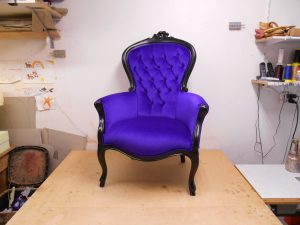 Barok fauteuil paars